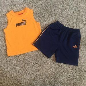 👶🏼 Puma Sleeveless Top & Shorts Set